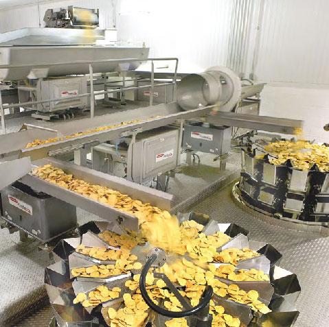 Fabricación de Patatas fritas y snacks